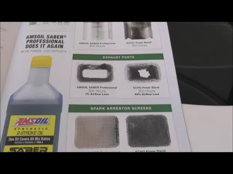 Amsoil Saber Oil Vs Stihl Oil Vs Echo Oil Carbon Build Up And How