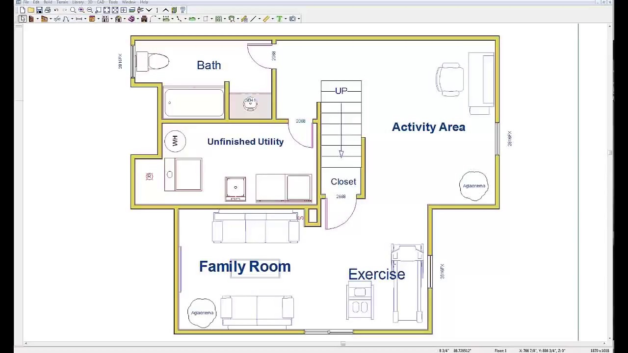 Wiring your basement basement electric design plan youtube for Design your basement online free