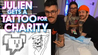Julien gets a tattoo for charity!