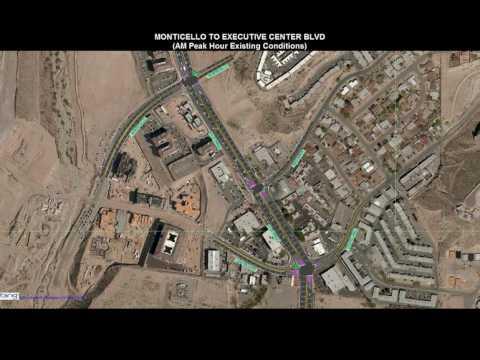 Mesa St  (State Highway 20) Morning Traffic Animation