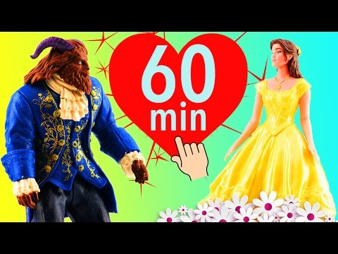Beauty and The Beast Movie Toys Compilation One Hour Long! Spin the Wheel Games Moana Trolls Toys!