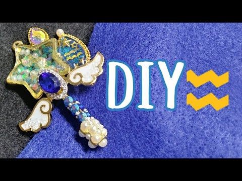 [Resin Art] AQUARIUS DIY! ♒ Star Twinkle Precure Aquarius Resin Shaker Wand 🌟💞| Watch me Resin