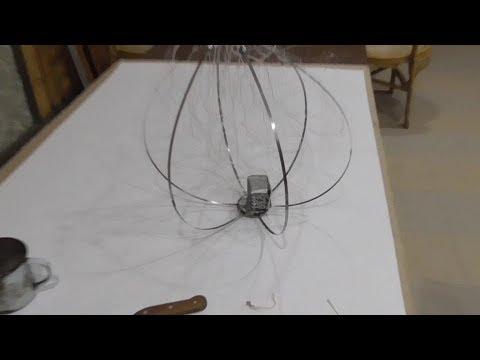 Изготовление паука (хапуги, подъемника) для ловли живца зимой.