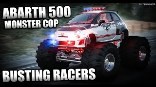 Busting Racers - Abarth 500 Police Monster Truck - The Crew Calling All Units