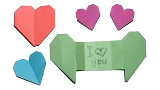 Origami Heart with secret Message / DIY beauty and easy