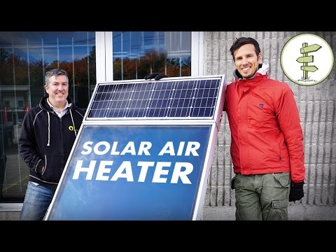 Awesome Solar Air Heater for Off Grid Living, Tiny Houses, R