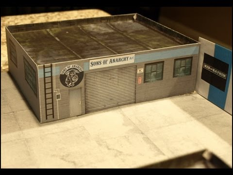 Paperkraftcity Sons Of Anarchy Paper Models Youtube