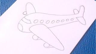 ❤❤Как просто и быстро нарисовать Самолет.❤❤(В этом видео-уроке вы узнаете, как нарисовать самолет. Поэтапное рисование самолета для детей – не слишком..., 2016-02-12T12:00:00.000Z)