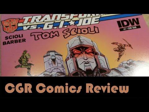 CGR Comics - TRANSFORMERS VS. G.I. JOE #1 comic book review