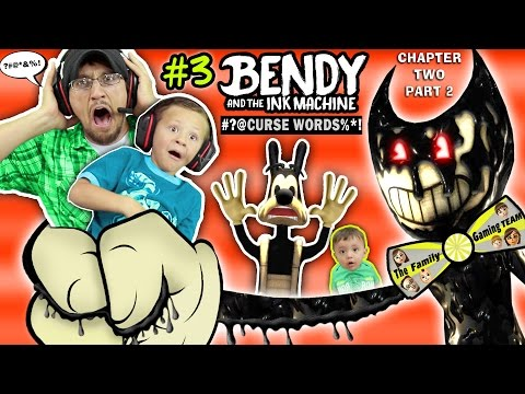 Thumbnail: DAD CAPTURED! Bendy and the Ink Machine #3 Haunts Our House FGTEEV Chapter 2 Boss 👹 SCARY Kids Game