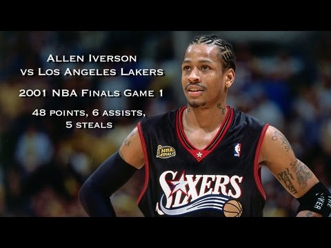 Allen Iverson Vs Los Angeles Lakers 2001 Nba Finals Game 1 Full