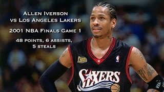 Allen Iverson vs Los Angeles Lakers: 2001 NBA Finals Game 1 Full Highlights - 48 points & 6 assists