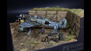 Focke-Wulf 190 Maintenance Airfield - Diorama 1/48