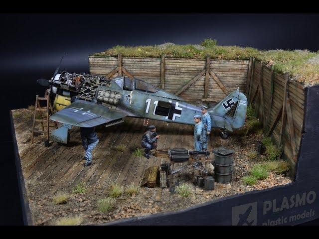 Focke-Wulf 190 Maintenance Airfield - Diorama 1/48