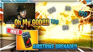 Typical Gamer REACTS to the *NEW* Airstrike Grenade in Fortnite!