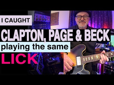 Clapton, Page & Beck lick | Tim Pierce | Guitar Lesson | Learn To Play