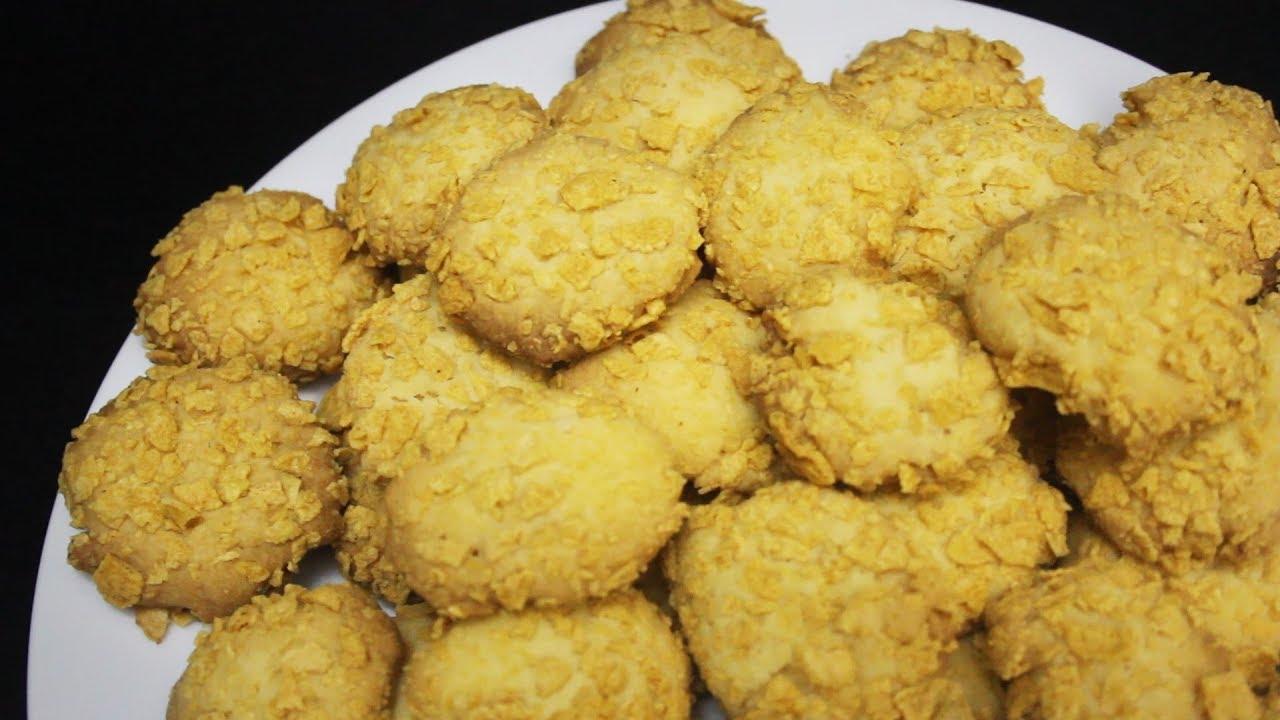 Resep Cornflakes Cookies Youtube