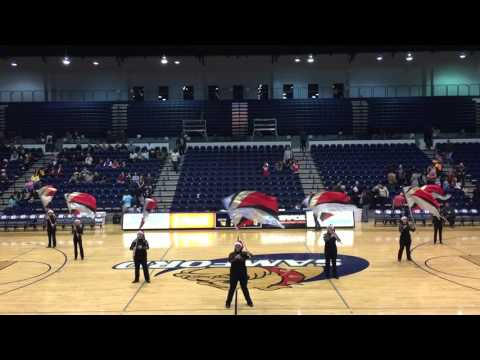 Corner High School Band ColorGuard Christmas (Carol of the Bells) Routine