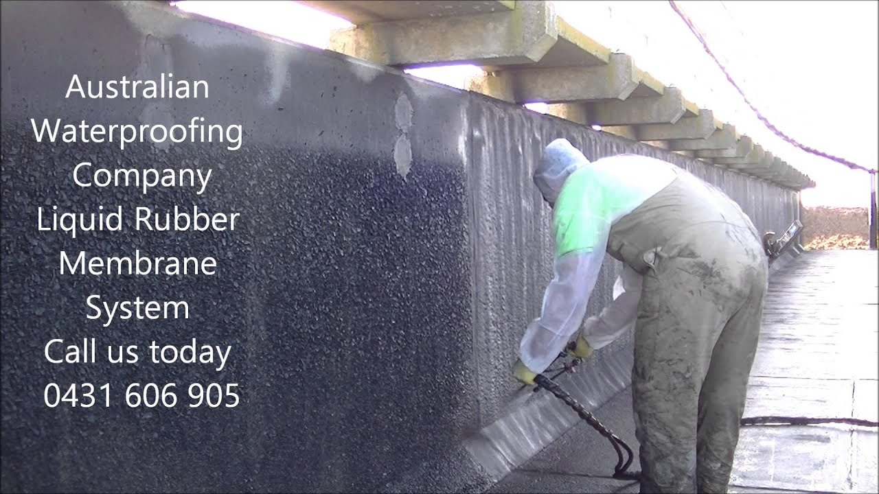 Waterproof membrane detail waterproof membrane system for - Melbourne Liquid Rubber 3mm Spray Applied Waterproofing Membrane System Flume Bridge From Awc