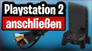 Playstation 2 an Fernṡeher anschließen (alle Möglichkeiten von AV bis HDMI)