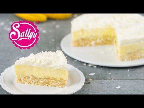 Kokos-Bananen-Kuchen ohne Backen / Coconut Banana Cream Pie / No Bake
