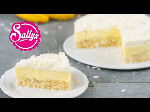 Kokos-Bananen-Kuchen ohne Backen / Coconut Banana Cream Pie / No Bake / Sallys Welt