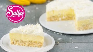 Kokos-Bananen-Kuchen ohne Backen / Coconut Banana Cream Pie / No Bake