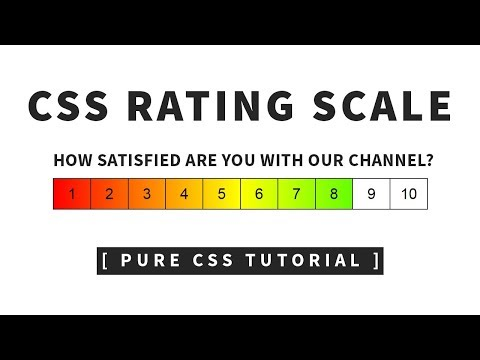 Pure CSS Rating Scale   Html CSS Rating Bar Tutorial