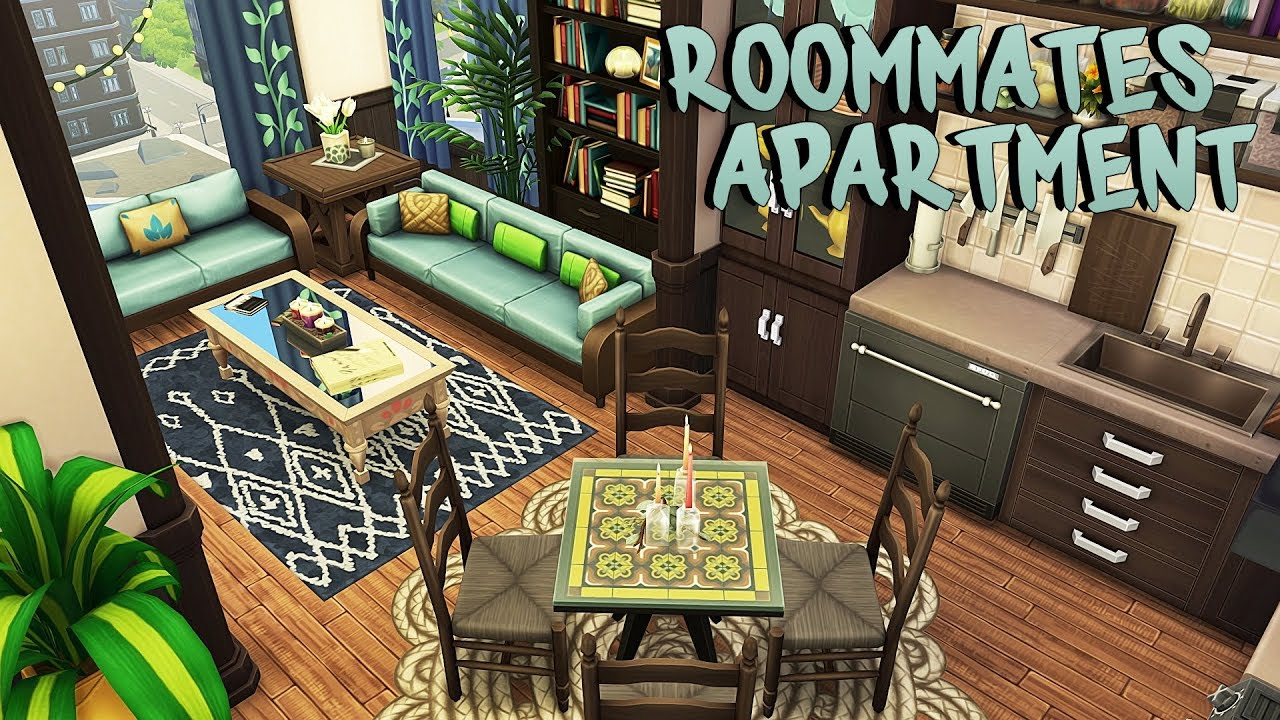 FREELANCER ROOMMATES APARTMENT | The Sims 4 | Apartment Renovation Speed Build