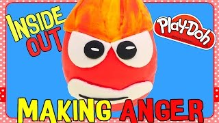 The Making of ANGER Play Doh Surprise Egg! DIY Disney Pixar Inside Out Movie Toy Characters
