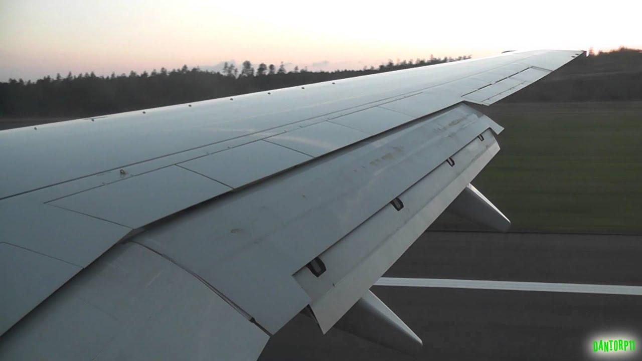 SAS 737-700 Amazing Sunset Landing on Summer Night in Gothenburg Sweden!