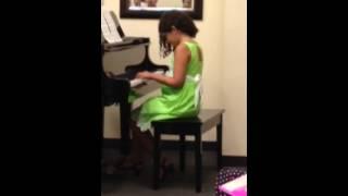 "June 3, 2014 recital playing ""An Irish Wedding"""