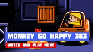 Monkey GO Happy: Stage 363 — Warehouse & Forklift · Game · Walkthrough