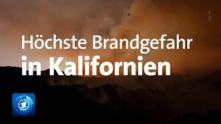 Dürre-Notstand und höchste Brandgefahr in Kalifornien