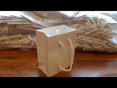 Luxury White Matt Paper Gift Party Bags Rope Handle Birthday Wedding X 180