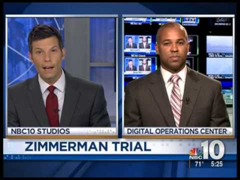 Zimmerman Trial Commentary WCAU TV 2013 07 12 5PM