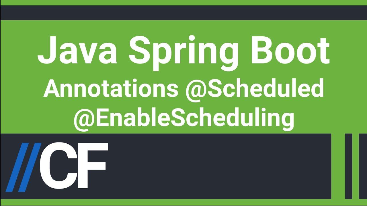 Java Spring Boot - Job Scheduler