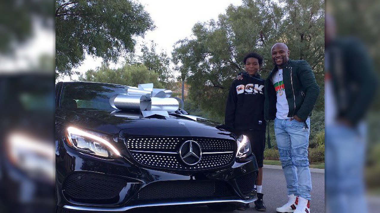 Floyd Mayweather bought his son a sweet car for his th birthday