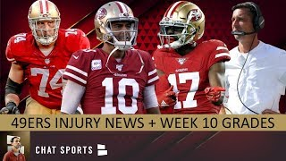 49ers Injury News On Emmanuel Sanders + Week 10 Grades vs. Seahawks Feat. Jimmy Garoppolo & More