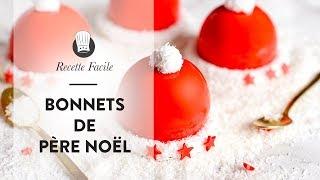 RECETTE de NOËL : les petits Entremets Bonnets de Père Noël
