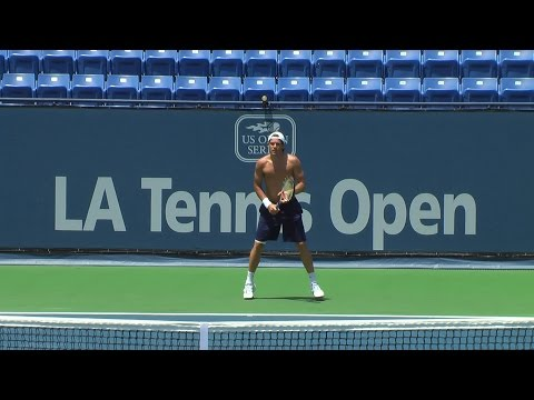 2009 Tommy Haas practice at LATC centercourt 1080 AVCHD