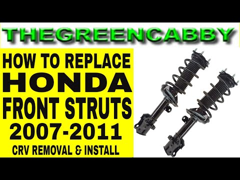 HOW TO REPLACE HONDA FRONT STRUTS SUSPENSION SPRINGS – HONDA CRV 07-11 2007 – 2011 REMOVAL & INSTALL