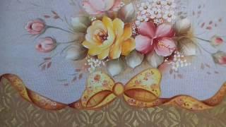 Pintura em Tecido – Aprenda Pintar Rosa Amarela, Hibisco Vermelho e Folhas
