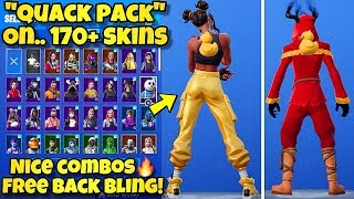 "NEW ""QUACK PACK"" BACK BLING Showcased With 170+ SKINS! Fortnite BR (BEST QUACK PACK COMBOS)"