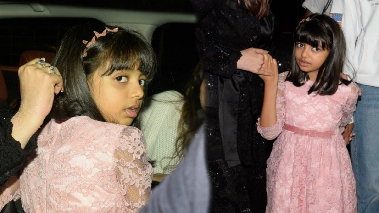 Aishwarya Rai Daughter Aaradhya Bachchan SCARED Looking At ...