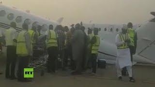 Avión sobrecargado con bolsas de dinero colapsa en plena pista