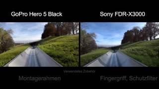 GoPro Hero 5 Black vs. Sony FDR-X3000