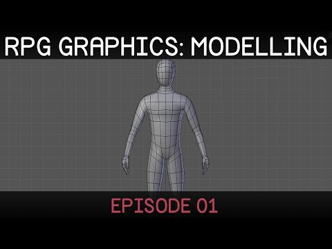 RPG graphics E01: Character model [Blender]