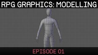 rPG graphics E01: Character model Blender