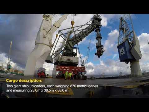 HHL Tokyo – Transportation of two giant ship unloaders